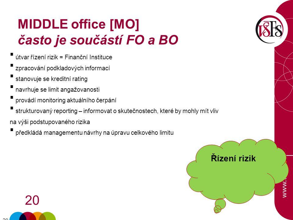 MIDDLE office [MO] často je součástí FO a BO